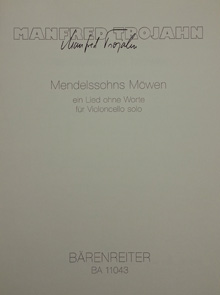 Cover Komposition Manfred Trojahn